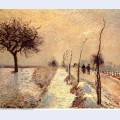 Road at eragny winter 1885