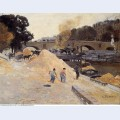 The banks of the seine in paris pont marie quai d anjou