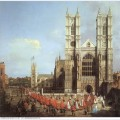 Westminster abbey with a procession of knights of the bath 1749