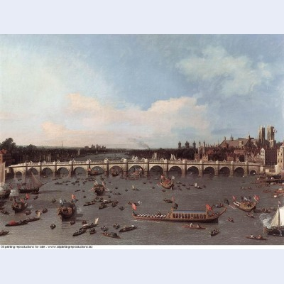 Westminster bridge from the north on lord mayor s day 1746