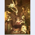 Nativity with st francis and st lawrence