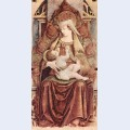 Enthroned madonna enthroned maria lactans