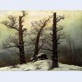 Dolmen in snow