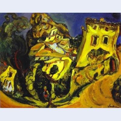 Landscape at cagnes la gaude