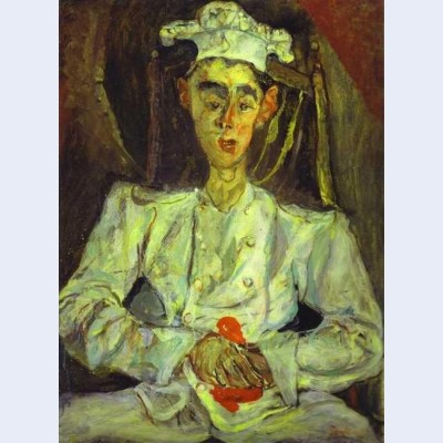 Pastry cook with red handkerchief