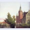 Frederiksborg castle seen from the northwest