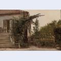 The garden steps leading to the artist s studio on blegdammen