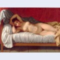 Lying model in bed