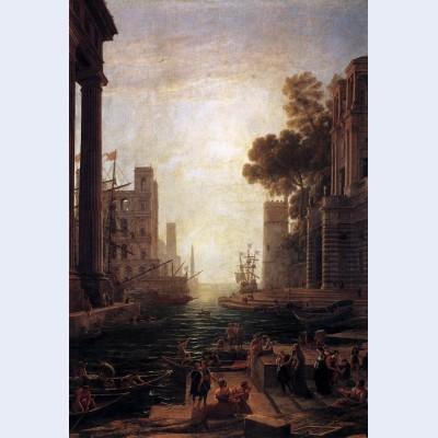 Embarkation of st paula romana at ostia