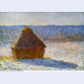 Grainstack in the morning snow effect 1891