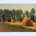Haystacks at giverny 1