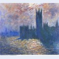 Parliament reflections on the thames 1905