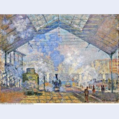 Saint lazare station exterior view