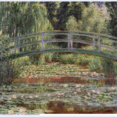 The japanese bridge the water lily pond 2