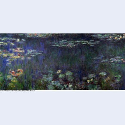 Water lilies green reflection left half 1926