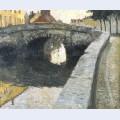 Zicht aan de augustijnenbrug te brugge