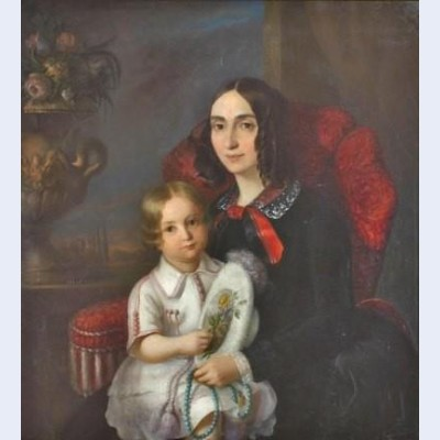 Anica manu with her child