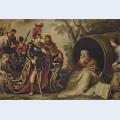 Cornelis de vos alexander and diogenes