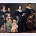 Self portrait of the artist with his wife suzanne cock and their children