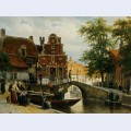 A view of franeker with the zakkend ragerschuisje