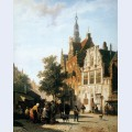 Marketview with cityhall woerden