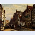 Oudewater street at summer