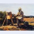 Painter jan bakker at work