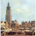 View on market in groningen