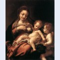 Virgin and child with an angel madonna del latte