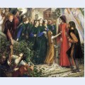 Beatrice meeting dante at a wedding feast denies him her salutation