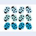 Blue lady bug family
