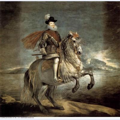 Equestrian portrait of philip iii 1635