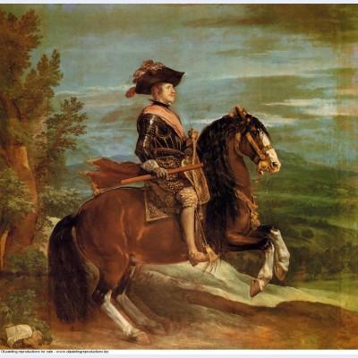 Equestrian portrait of philip iv 1635