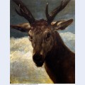 Head of a stag 1634