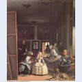 Las meninas detail of the lower half depicting the family of philip iv of spain 1656