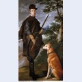 Portrait of cardinal infante ferdinand of austria with gun and dog 1632