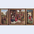 Triptych the pearl of brabant left wing st john the baptist middle panel adoration of the magi