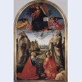 Christ in glory with st benedict c st romuald c st attinia st grecinia and the