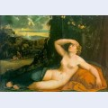 Venus awakened by cupid