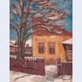 Village inn during winter