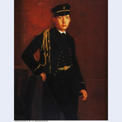 Achille de gas as a naval cadet detail 1857