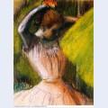 Dancer arranging her hair