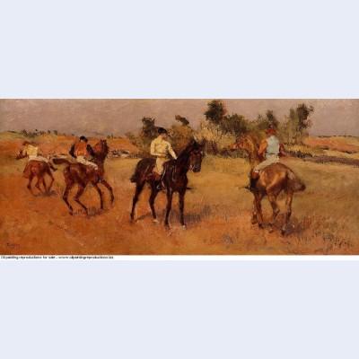 Four jockeys