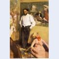 Portrait of henri michel levy in his studio 1879