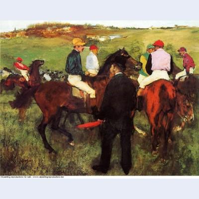 Racehorses at longchamp 1875