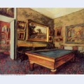 The billiard room at menil hubert 1892