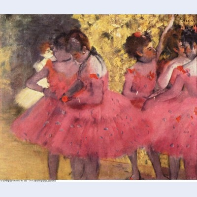The pink dancers before the ballet 1884