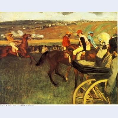 The racecourse amateur jockeys 1880