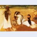 Women combing their hair 1877