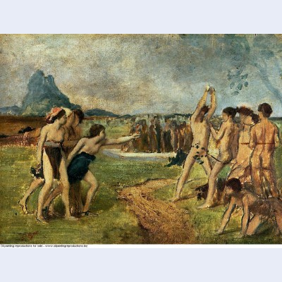 Young spartans exercising 1860 1